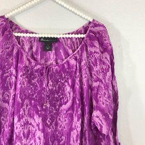 Lane Bryant purple blouse